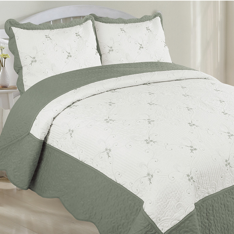 HJ Home Fashion Embroidery Quilt