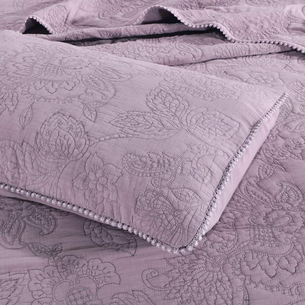 embroidery quilt set stone washed