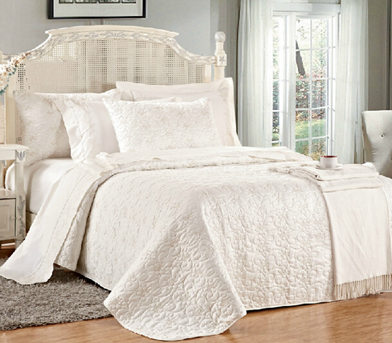 satin solid quilt set
