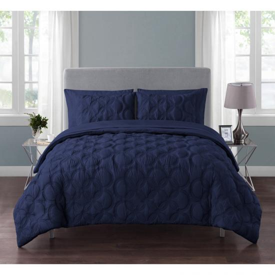 Embossed 7-Piece Bed-in-a-Bag with Sheet Set
